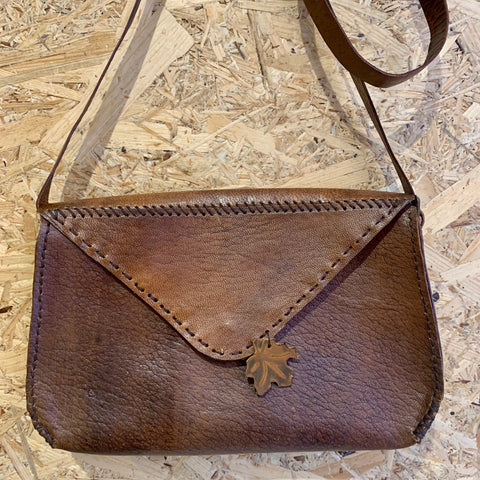 Cocoa Leather Crossbody