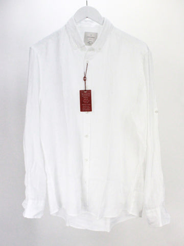 White Collared Linen Shirt