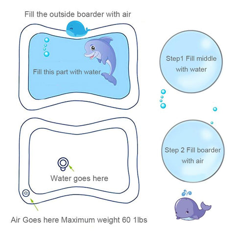 Image of Tummy Time Inflatable Water Mat For Your Little One