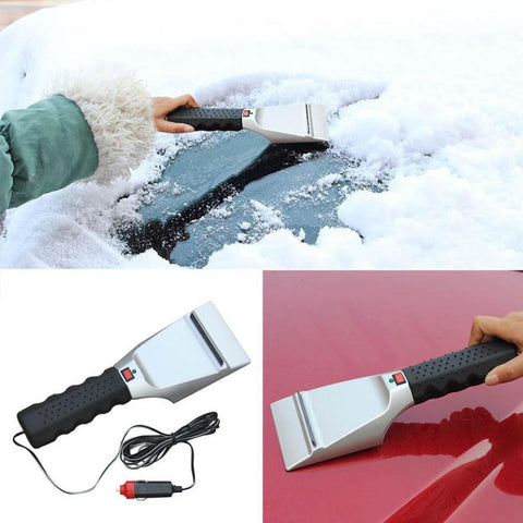 12 Volt Heated Ice Scraper for Car Auto Truck with Built in LED Light