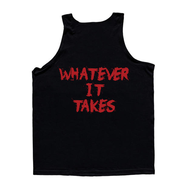 Love It Kill It, Black Tank Top with Red Lettering