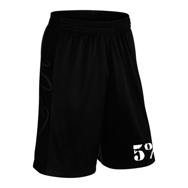 Love It Kill It, Black Shorts with White Lettering