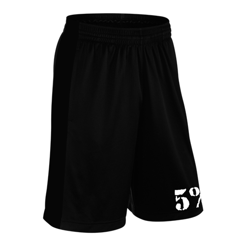 5% For Life, Black Shorts with White Lettering