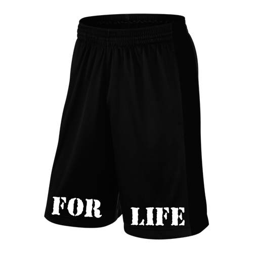 5% For Life, Black Shorts with White Lettering (intl)