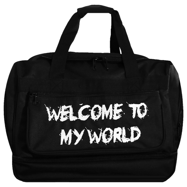 Welcome To My World, Black Gym Bag
