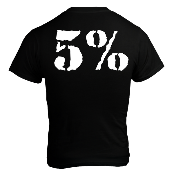 Rolls Rich, Black T-Shirt with White Lettering