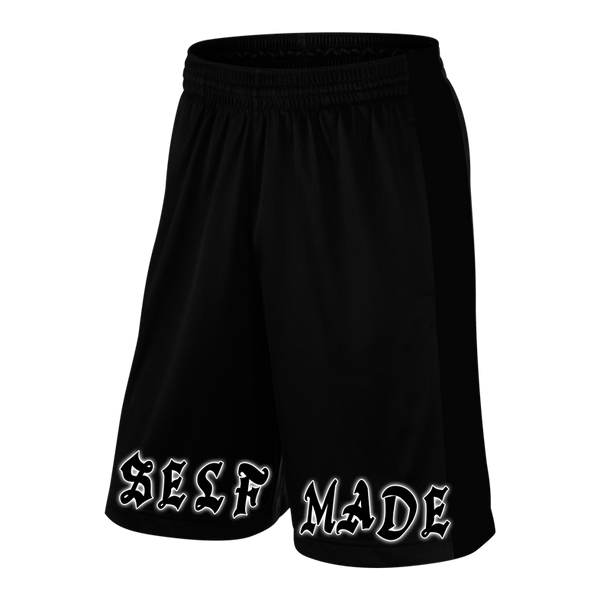 SELF MADE, Black Shorts with White Lettering (intl)