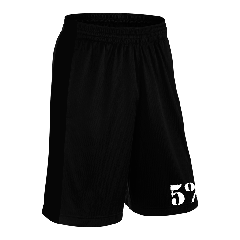 HUSTLER, Black Shorts with White Lettering