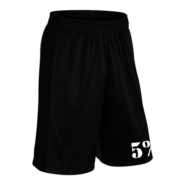 HUSTLER, Black Shorts with White Lettering (intl)