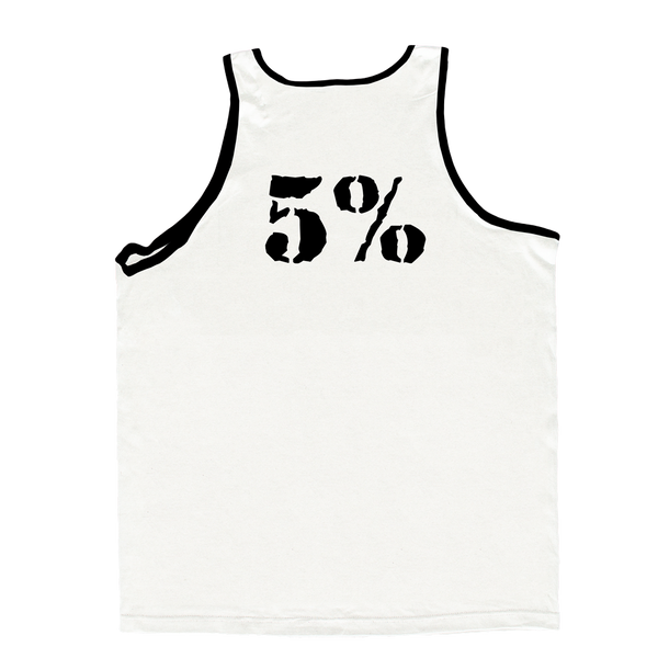 Rolls Rich, White Tank Top with Black Lettering