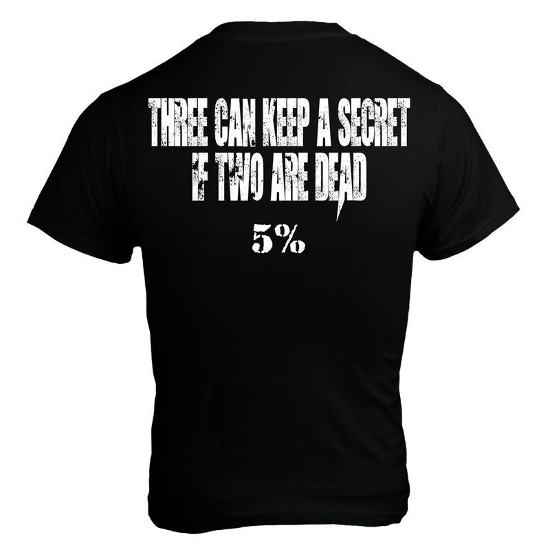 KEEP SECRET, Black T-Shirt with White Lettering