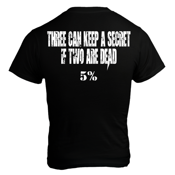 KEEP SECRET, Black T-Shirt with White Lettering (intl)