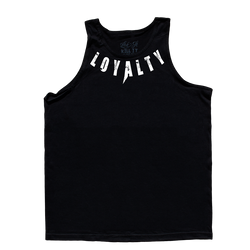 KEEP SECRET, Black Tank Top with White Lettering