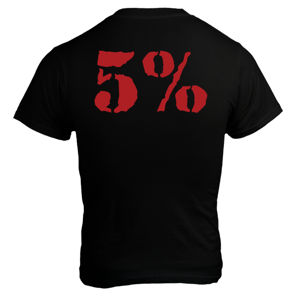 Punisher, Black T-Shirt with Red Lettering