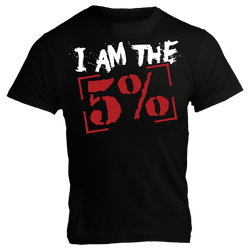 I Am The 5%, Black T-Shirt with Red Lettering