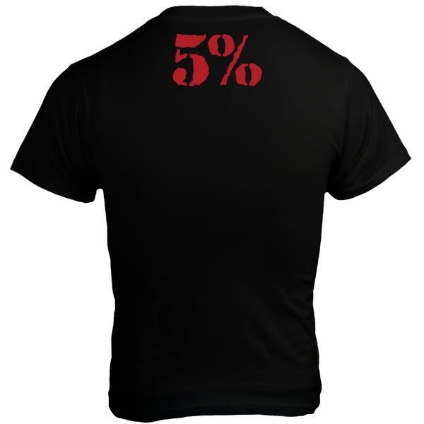 Hangry As Fuck, Black T-Shirt with Red Lettering