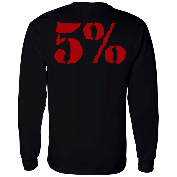 Love It Kill It, Black Long Sleeved Shirt with Red Lettering