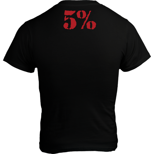 Bigger By The Day, Black T-Shirt with Red Lettering