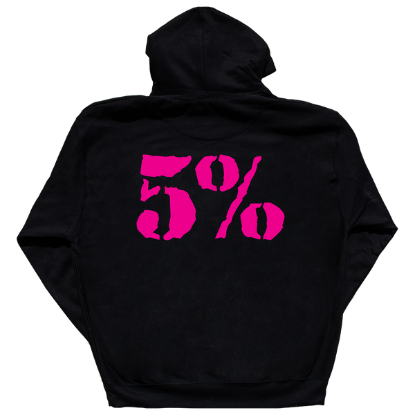Love It Kill It, Black Hoodie with Pink Lettering