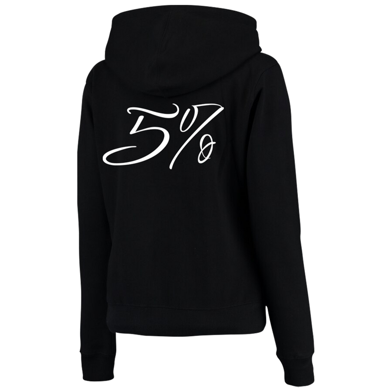 Love It Kill It, Black Zip-Up Hoodie with White Lettering