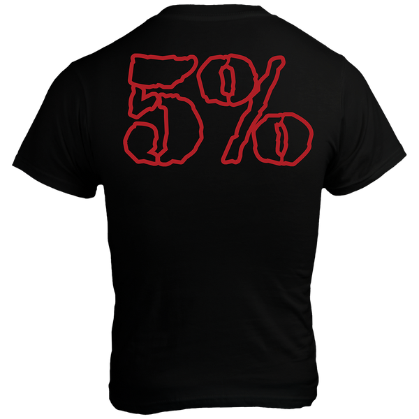 SHOOPAH, Black T-Shirt with Red Lettering