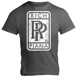Rolls Rich, Gray T-Shirt with White Lettering