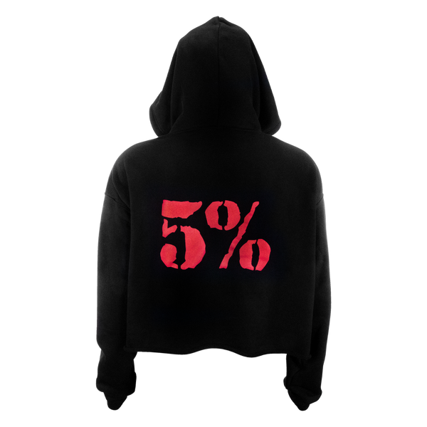 Love It Kill It, Women's Cropped Black Hoodie with Red Lettering