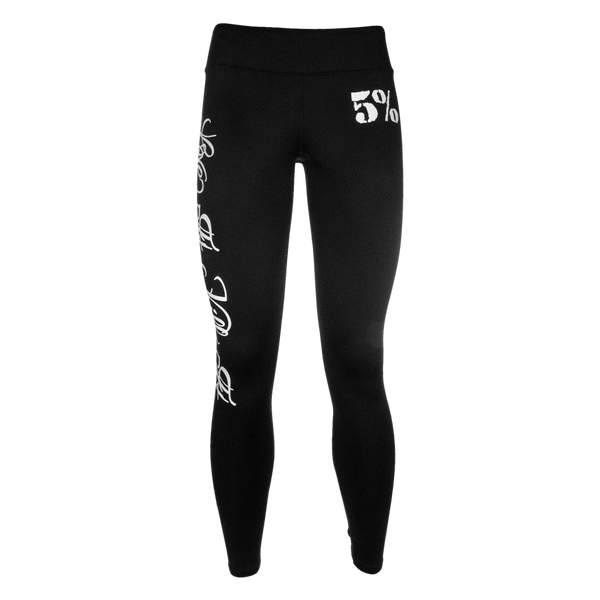 Love It Kill It, Black Leggings with White Lettering