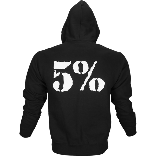 Kill It, Black Zip-Up Hoodie with White Lettering