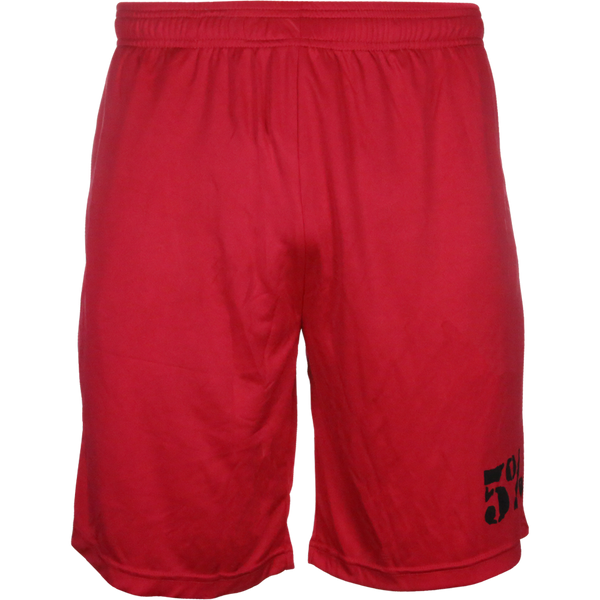 5% Red Shorts with Black Lettering