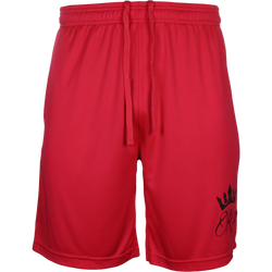 RP Crown Red Shorts with Black Lettering