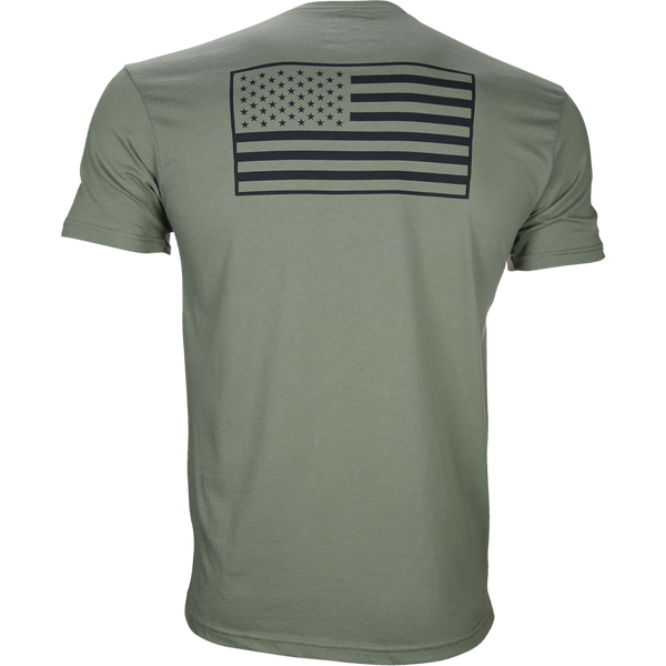 5% Military Green T-Shirt with Black Graphic