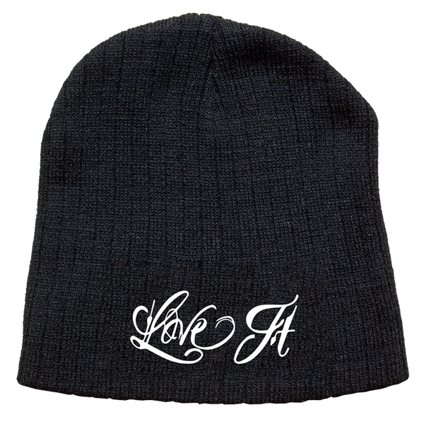 Love It Kill It, Black Beanie with White Lettering