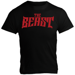 The Beast, Black T-Shirt with Red Lettering