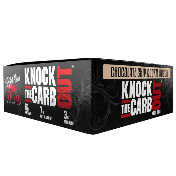 "Knock the Carb Out ""KTCO"" Box (10 Bars) - Chocolate Chip Cookie Dough"