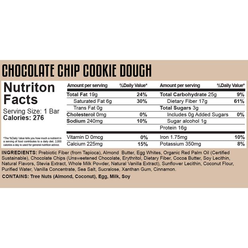 "Knock the Carb Out ""KTCO"" Bar - Chocolate Chip Cookie Dough"
