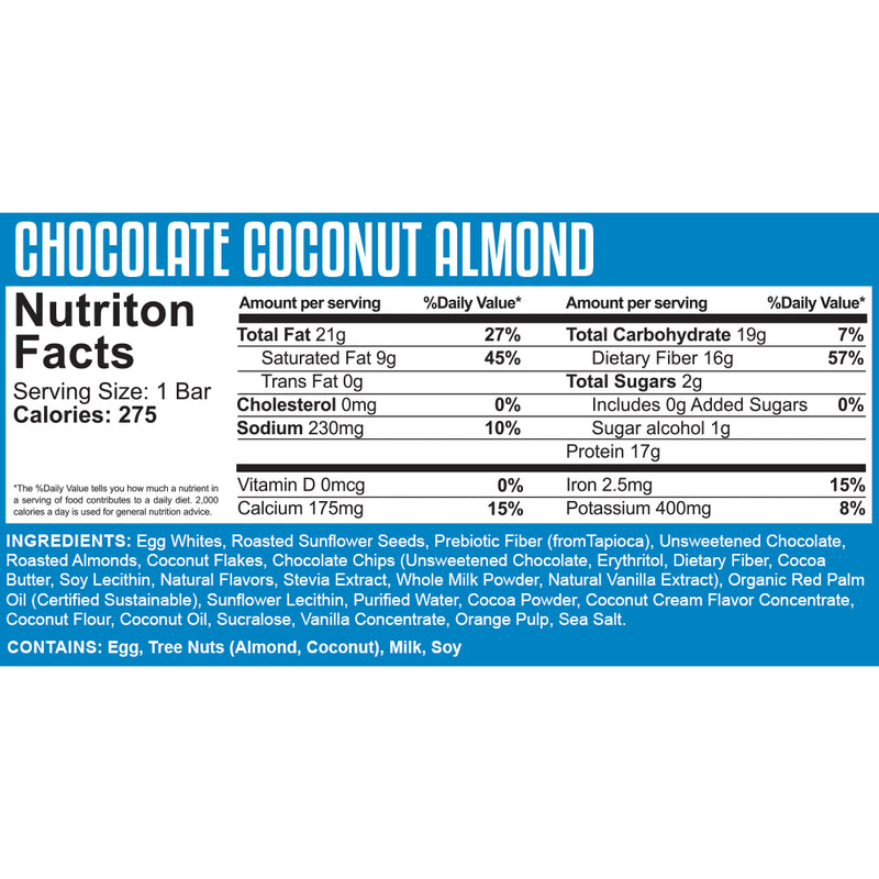"Knock the Carb Out ""KTCO"" Box (10 Bars) - Chocolate Coconut Almond"