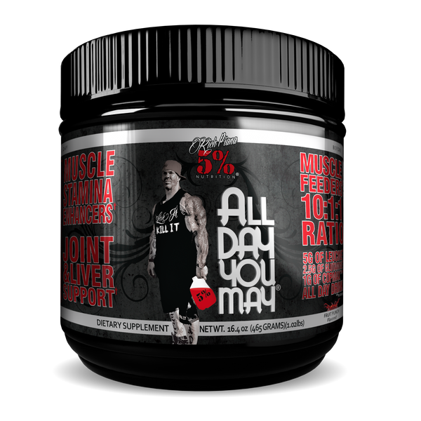 Rich Piana 5% Nutrition All Day You May 10:1:1 BCAA - Fruit Punch