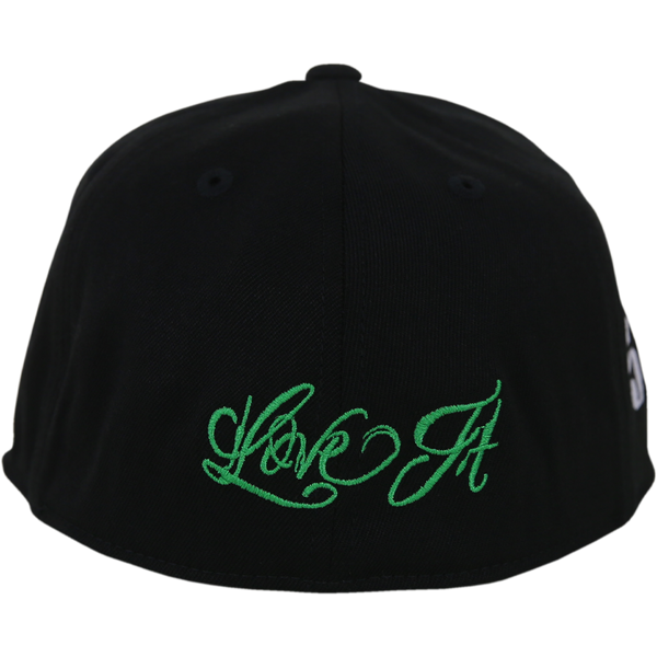 Love It Kill It, Black Hat with Green Lettering