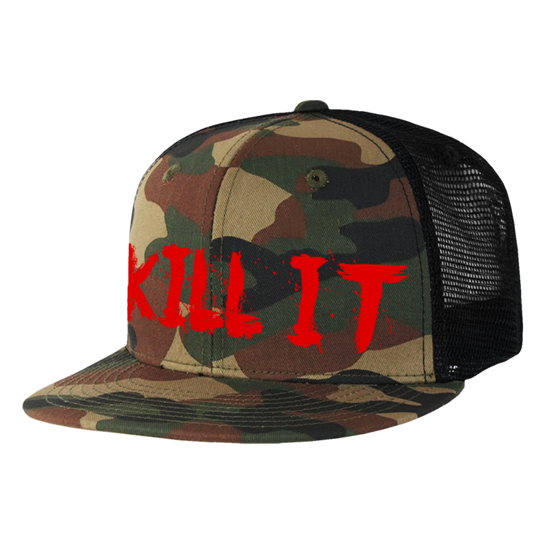 Love It Kill It, Camo Trucker Hat with Snapback