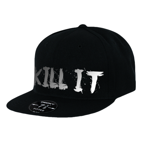 Love It Kill It, Black Hat with Chrome Lettering