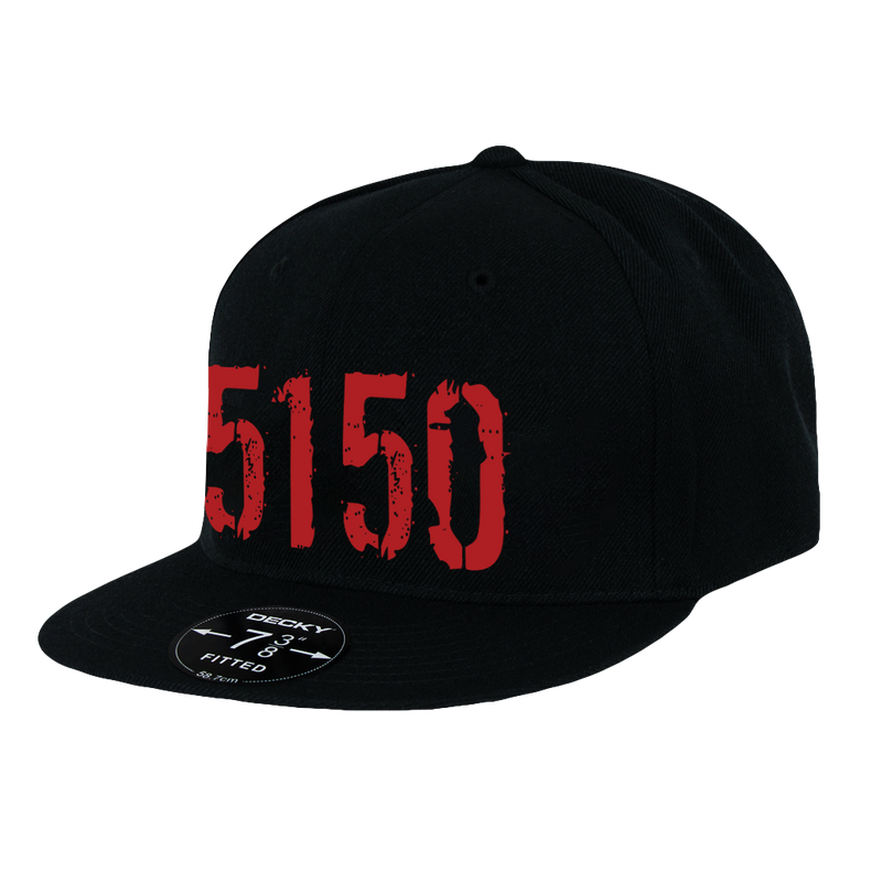 5150, Black Hat with Red Lettering