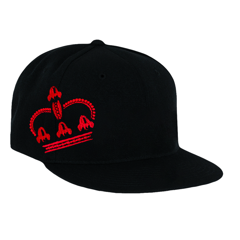 Wear the Crown, Black Hat with Red Lettering