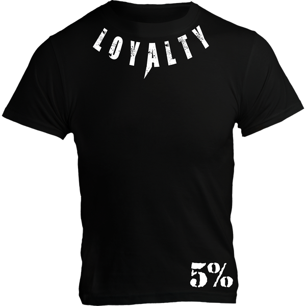 LOYALTY, Black T-Shirt with White Lettering