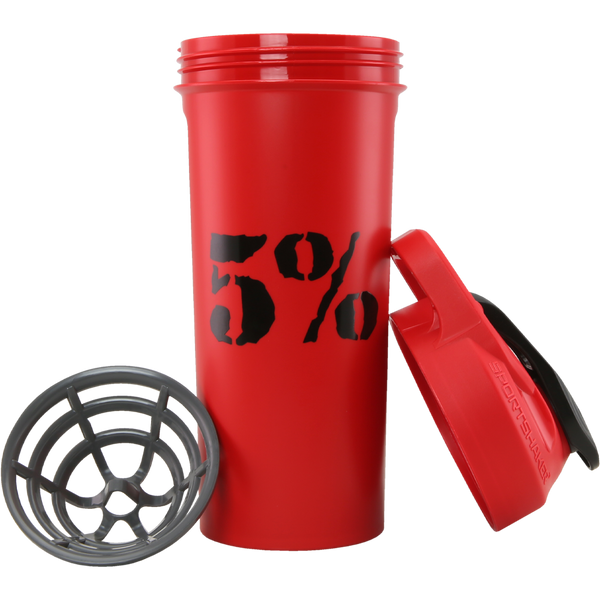 5% 20oz Shaker Cup (Red/Black)