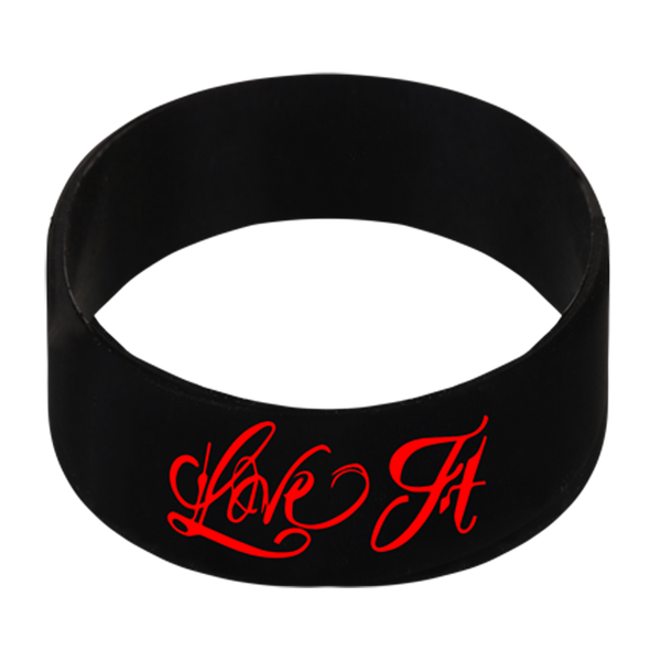 Love It Kill It, Black Wristband with Red Lettering