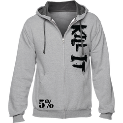 Kill It, Gray Zip-Up Hoodie with Black Lettering (intl)