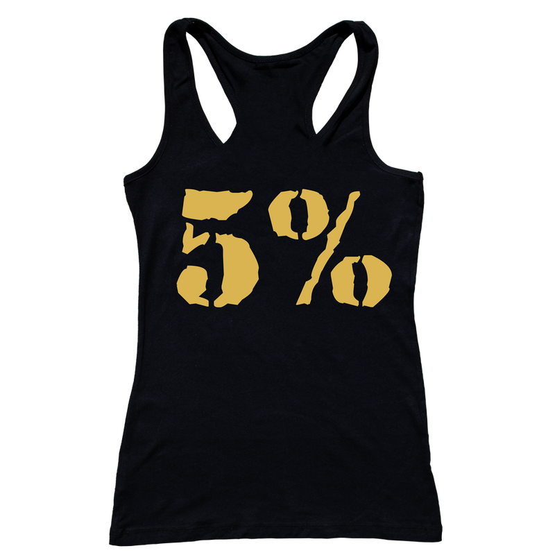 Goal Digger, Woman's Black Tank with Gold Lettering