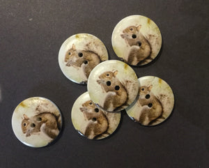 Squirrel Buttons 23mm