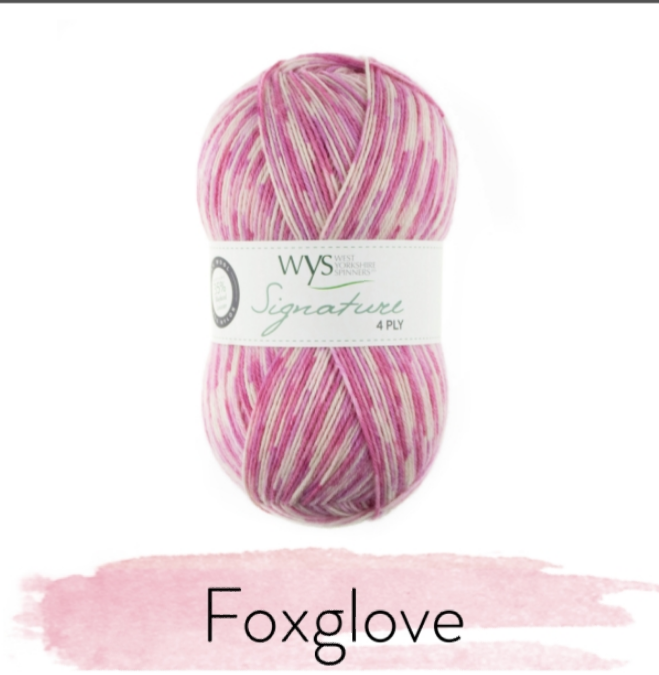 WYS Signature 4Ply - Florist Collection FOXGLOVE 802
